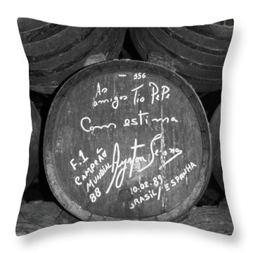 Ayrton Senna - 1988 Jerez Throw Pillow by Juergen Weiss