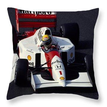 Ayrton Senna. 1992 French Grand Prix Throw Pillow