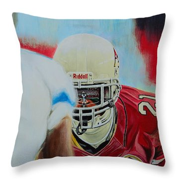 Az Cardinals Patrick Peterson Throw Pillow