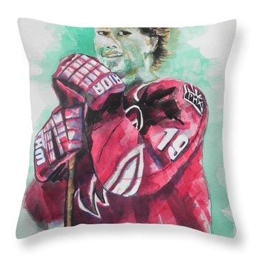 Az Coyotes ...hockey Player Shane Doan Throw Pillow by Chrisann Ellis