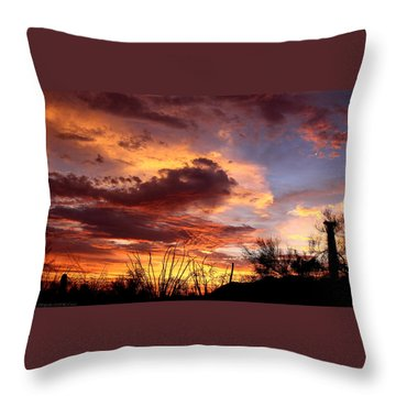 Az Monsoon Sunset Throw Pillow