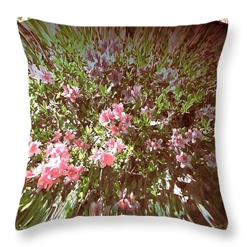 Azalea Bouquet Throw Pillow by Pamela Hyde Wilson