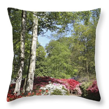 Azalea Flowers Throw Pillow
