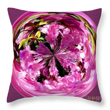 Azalea Orb IIi Throw Pillow by Jeff McJunkin