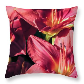 Azalea Riot Throw Pillow