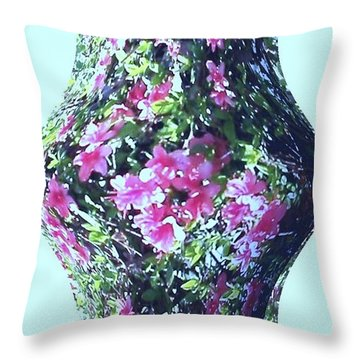 Azalea Vase Throw Pillow by Pamela Hyde Wilson