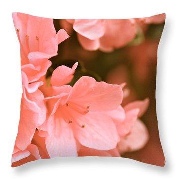 Azalea Victorian Throw Pillow by Cathy Dee Janes