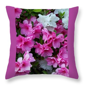 Azalea Glory Throw Pillow