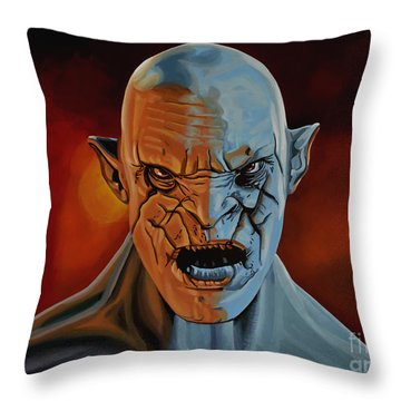 Azog The Orc Painting Throw Pillow