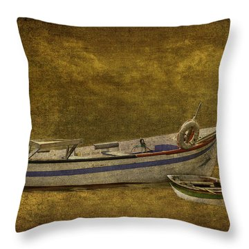 Azorean Fishing Boats Throw Pillow
