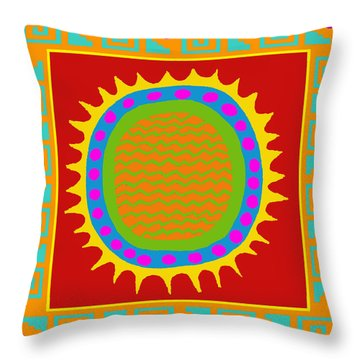 Aztec Del Sol Throw Pillow