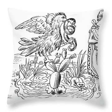 Aztec Priests, C1325 Throw Pillow
