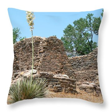Aztec Ruins National Monument Throw Pillow by Laurel Powell