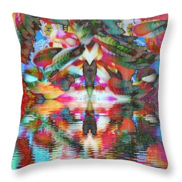 Azteca Throw Pillow by Candee Lucas