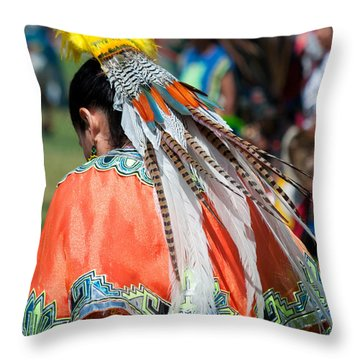 Aztecan Ceremony 6 Throw Pillow by Gwyn Newcombe