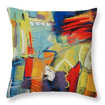 Azul Wisp Throw Pillow