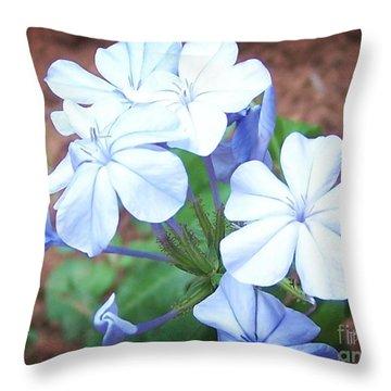 Azure Aura Throw Pillow