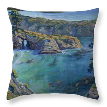 Azure Cove Throw Pillow by Heather Coen