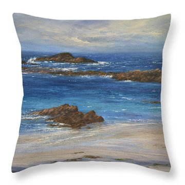 Azure Throw Pillow by Valerie Travers