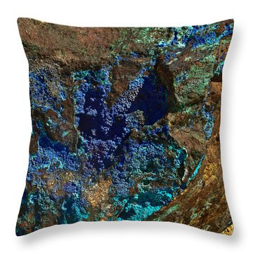 Azurite Throw Pillow