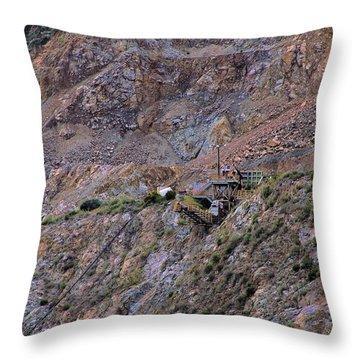 Azusa Rock Quarry Throw Pillow