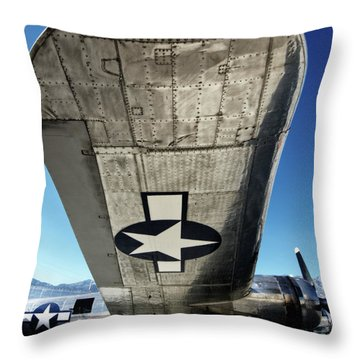 B 17 Sentimental Journey Throw Pillow