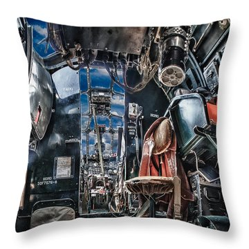 B-24 Cockpit Throw Pillow