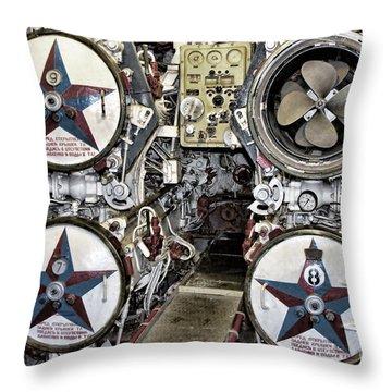 B-427 Torpedo Room Throw Pillow