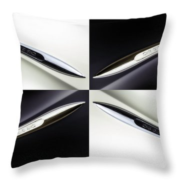 B And W Chevy Throw Pillow