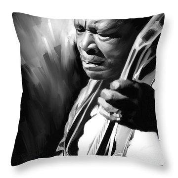 B B King Artwork Throw Pillow
