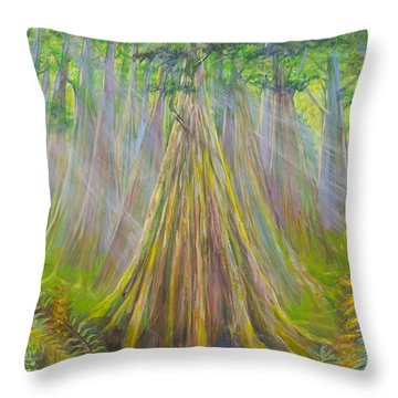 B C Cedars Throw Pillow
