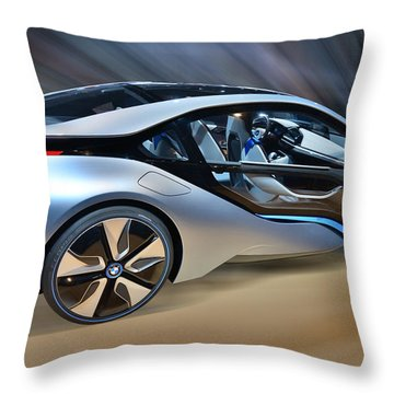 B M W Edrive Concept Throw Pillow