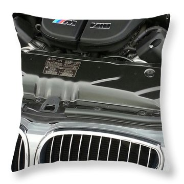 B M W M5 V10 Motor Throw Pillow