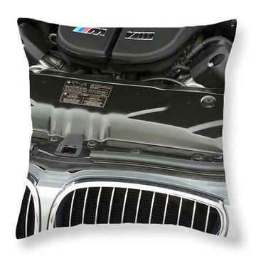 B M W M5 V10 Motor Throw Pillow