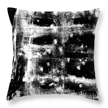 B 'n' W Abstract 2 Throw Pillow by Jason Michael Roust