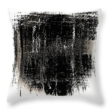B 'n' W Abstract 3 Throw Pillow