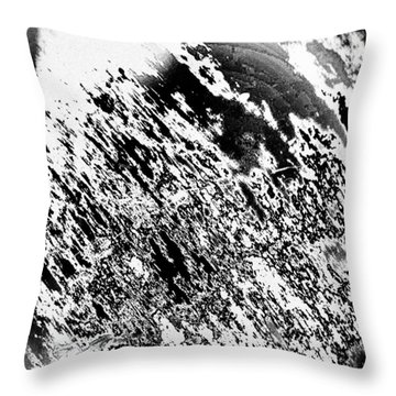 B 'n' W Abstract Throw Pillow