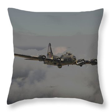 B17 Outbound - 'heavy Weather' Throw Pillow by Pat Speirs