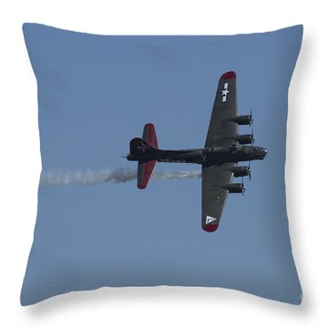 B17 Texas Raiders Throw Pillow by D Wallace
