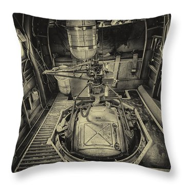 B17 Turret Throw Pillow