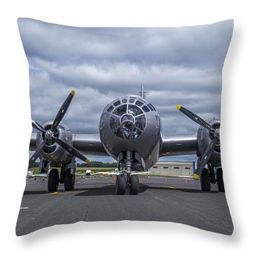 B29  Superfortress Throw Pillow
