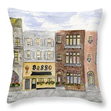 Babbo @ Waverly Place Throw Pillow