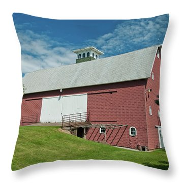 Throw Pillow featuring the photograph Babcock Barn 2263 by Guy Whiteley