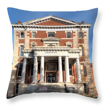 Babcock Building-2 Throw Pillow
