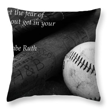 Babe Ruth Baseball Quote Throw Pillow