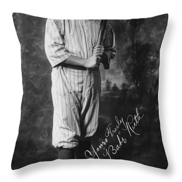 Babe 'the Sultan Of Swat' Ruth  1920 Throw Pillow