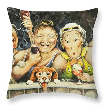 Babes N' Bitchies Throw Pillow