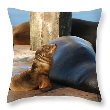 Baby And Me  Throw Pillow