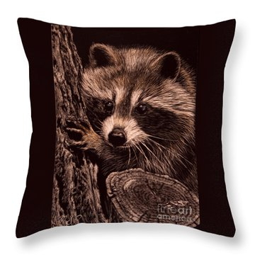 Baby Bandit Throw Pillow