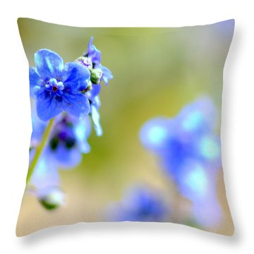 Baby Blu Throw Pillow by Martina  Rathgens